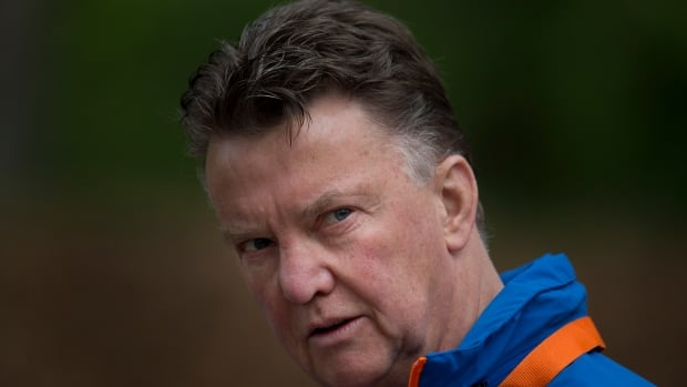Louis van Gaal, seen on Thursday with the Dutch national soccer team, will leave his country's national team after the upcoming World Cup in Brazil.
