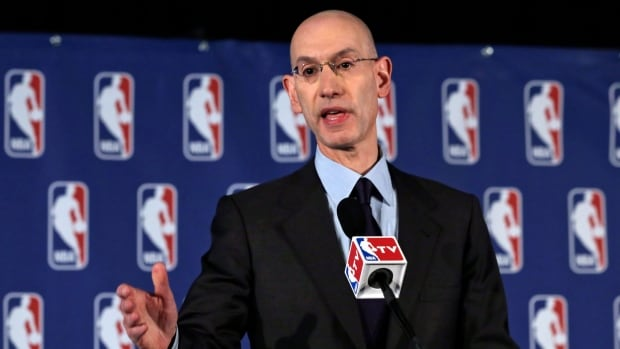 Adam Silver, seen announcing the Donald Sterling ban on April 29, has been tested early in his tenure as NBA Commissioner.