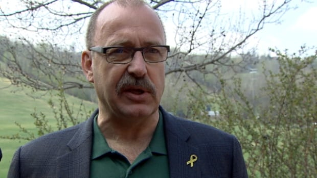 Ric McIver was campaigning in Edmonton on Monday. He intends to run for the leadership of the Alberta Progressive Conservative Party.