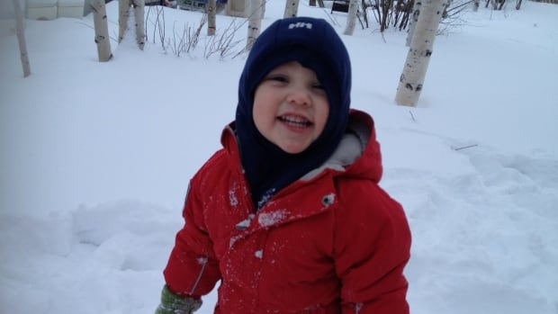The mother of Sana'a Michael Christensen-Blondin, 2, says her son was playing in the yard of a welding company in Yellowknife when a truck pulled forward and ran over him.