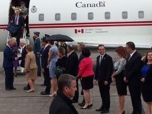 Prince Charles at Charlottetown Airport