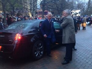 Prince Charles in downtown Charlottetown
