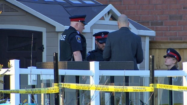 York Regional Police say that a toddler was in critical condition after being found Monday in a Stouffville pool that was under construction.