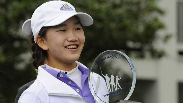 Lucy Li, seen in an April tournament, will surpass Lexi Thompson's mark at the U.S. Open.