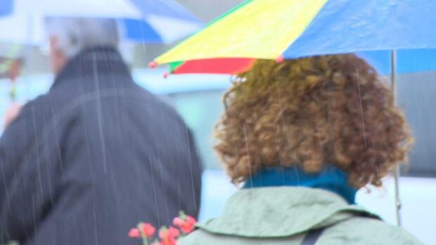 Winnipeggers made their way to garden centres on Victoria Day Monday, despite the rain.