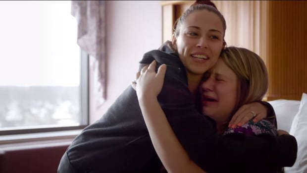 Huggies arranged a surprise visit between sisters in this ad targeting aunts.