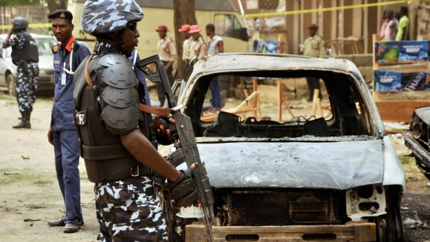 A suicide bomber struck in the northern Nigerian city of Kano on Sunday, on a street with popular bars and restaurants.
