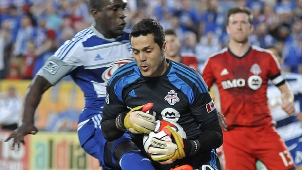 Toronto FC goalkeeper Julio Cesar (30) played seven MLS games for the club this season and posted a 3-4 win-loss record. He's headed to the World Cup and might play for England's Queens Park Rangers come August.