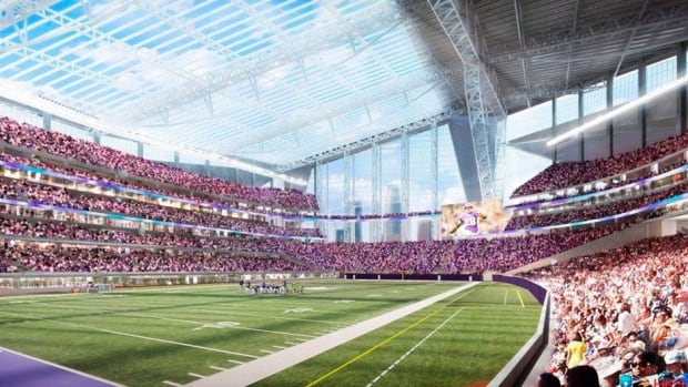 The 2018 Super Bowl will be contested in a new $1 billion US Vikings Stadium in Minneapolis, Minn., that looks similar to the drawing above. Minnesota beat out New Orleans and Indianapolis for the NFL championship.