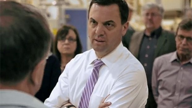 Ontario PC Leader Tim Hudak appears in a recent online ad. With Elections Ontario's moratorium on print and broadcast ads ending Tuesday at midnight, voters can expect to see a lot more political messages.
