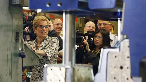 Ontario Liberal Leader Kathleen Wynne was in Windsor at Omega Tool, which previously received a $440,000 government grant to help pay for a $4.5-million expansion.