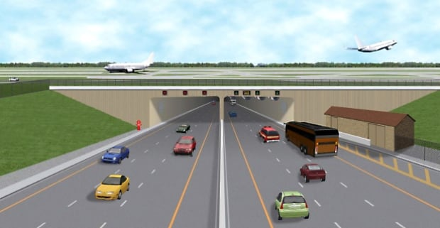 Airport tunnel rendering
