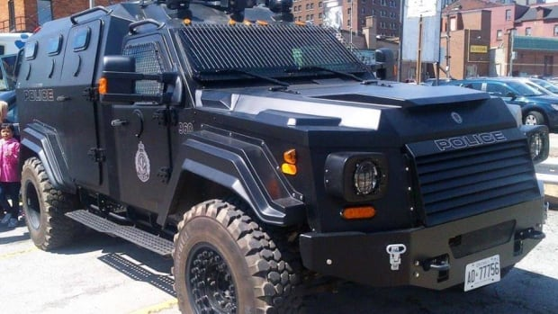 This armoured Terradyne police vehicle cost $279,180, and replaced an aging Brinks truck the service had been using since the 80s.