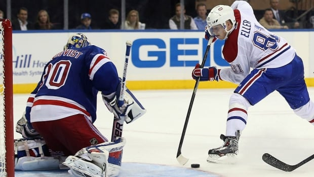 Rangers goalie Henrik Lundqvist held off an early attack by Montreal in Game 2 and then a third-period surge in which he stopped all 19 Canadiens shots. He made 40 saves overall to help New York to a 2-0 series lead in the NHL Eastern Conference final.