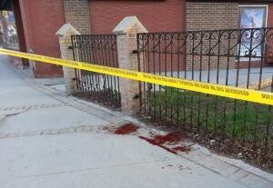 Blood on street
