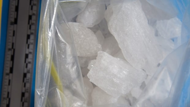A portion of the 3.5 kilograms of methamphetamine seized in Project Greymouth.