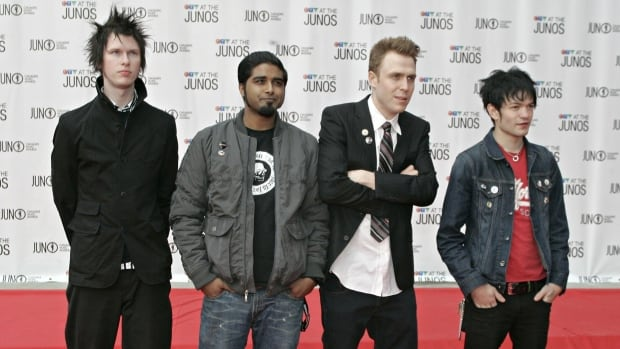 The Ajax, Ont., band Sum 41 became a household name in the early 2000s, earning platinum records on both sides of the border. The picture above was taken in Winnipeg at the Juno Awards back in 2005.