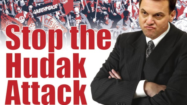 "The Ontario Federation of Labour's ""Stop Hudak"" campaign represents the message of many labour groups."