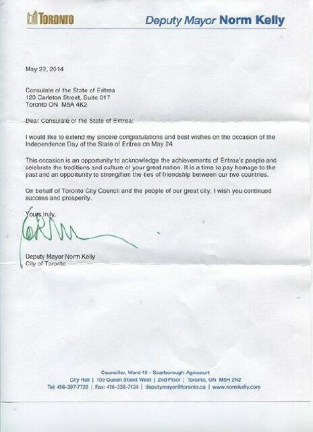 Letter from Norm Kelly