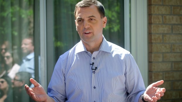 Progressive Conservative leader Tim Hudak speaks to supporters at a campaign stop in Woodbridge, Ontario May 24, 2014.