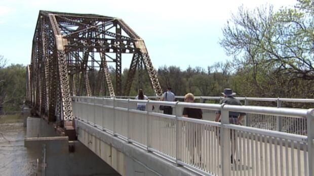 The Elm Park Bridge, affectionately known as the BDI Bridge, celebrated its 100th birthday Saturday.