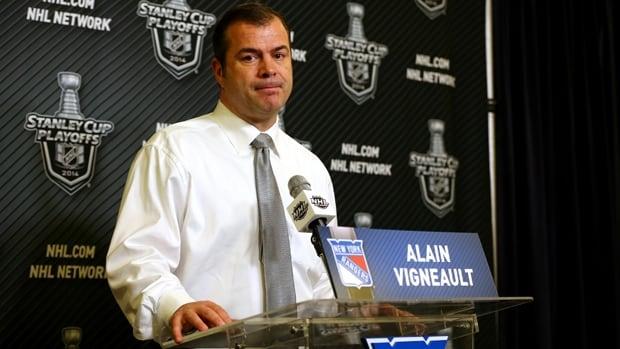 New York Rangers head coach Alain Vigneault questioned linesman Scott Driscoll's role  in the incident involving Dan Carcillo.