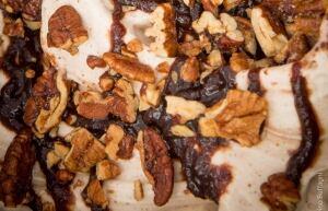 Bella Gelateria - salted pecan with Montmorency tart cherries and Tahitian vanilla