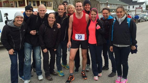Ottawa runner Nick Best was the first to cross the finish line of the Cabot Trail Relay in the final leg on Sunday.