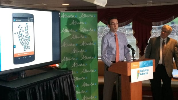 River forecasting director Evan Friesenhan was part of the team that developed the new app, which is free for download from the government's website.