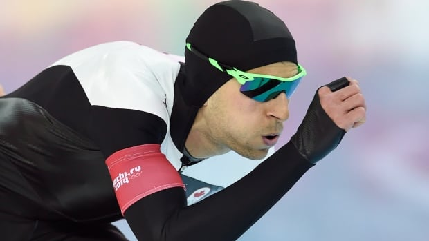 Canada's Lucas Makowsky skates in the 1,500m speed skating event at the Sochi Olympics on Feb. 15.