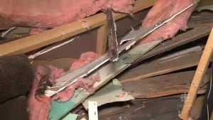 Interior of Jackie Murphy's house after crash
