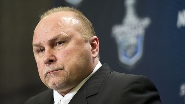 Barry Trotz, shown in this file photo, coached the Nashville Predators for the past 15 seasons. He will be formally introduced as the newest head coach of the Washinton Capitals on Tuesday.