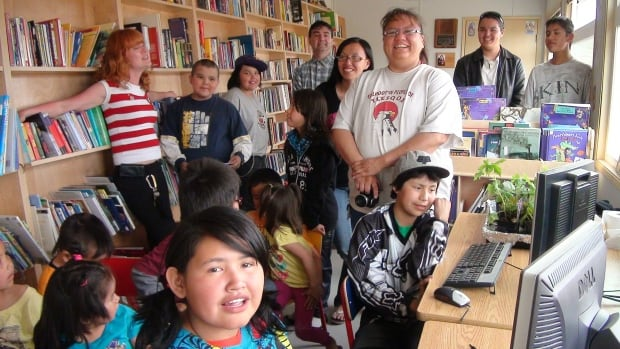 The library at Toosey First Nation was opened in 2011 with 3,000 donated books.