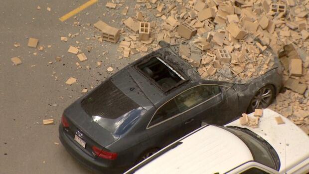 Calgary car crushed