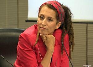 Sarah Thomson seen at May 26, 2014 mayoral roundtable
