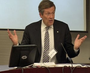 John Tory at roundtable discussion