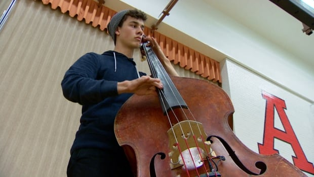 Bass player Caleb Klager says he finds arts education to be just as important as math or science.