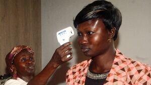 Ebola airport check in Guinea