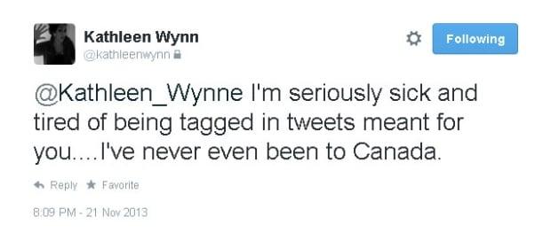 Kathleen Wynn to Kathleen Wynne
