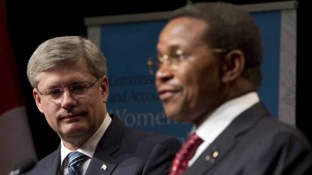 Canadian Prime Minister Stephen Harper, left, and Tanzanian President Jakawa Kikwete are co-chairs of the UN Commission on Women's and Children's Health. Harper is hosting a three-day summit on maternal health in Toronto.