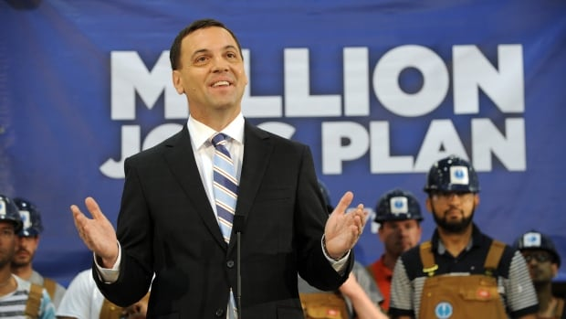 Tim Hudak's message of job creation and economic growth was undermined by questions about the math behind his pledge to create one million jobs.