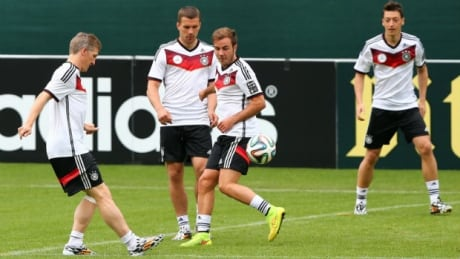 Germany, World Cup training