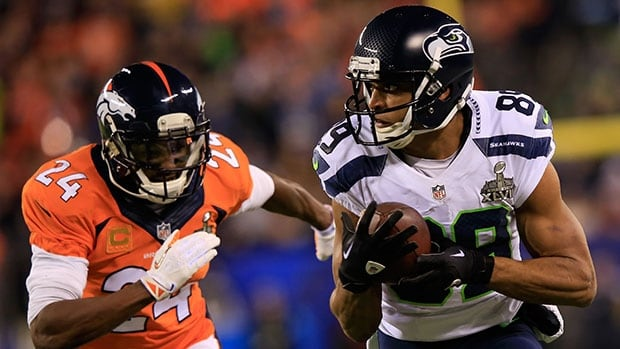 Doug Baldwin, right, caught five passes for 66 yards and a touchdown in Seattle's Super Bowl win over Denver.