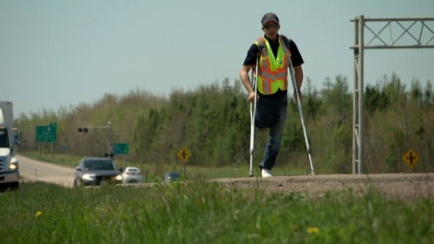 Mohamed Benziane usually walks an hour a day, he plans to walk all day Thursday to raise awareness about amputees.
