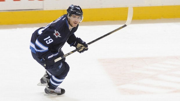 Centre Jim Slater has had a rough couple of seasons with the Jets as injuries have limited his playing time to only 26 games in 2012-13 and just 27 last season, when he was sidelined by a hernia.