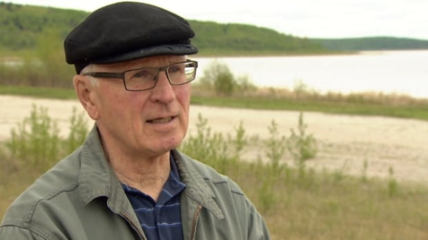 Peter Crown said he has watched water levels go down at Muriel Lake for the last 10 years. Now, he wants the province to look into what is causing the lake to shrink.
