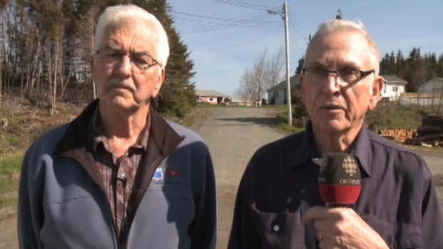 Roland Fewer, left, and Alex Stapleton are two residents in Marystown with an issue about a foster home planned in their neighbourhood.