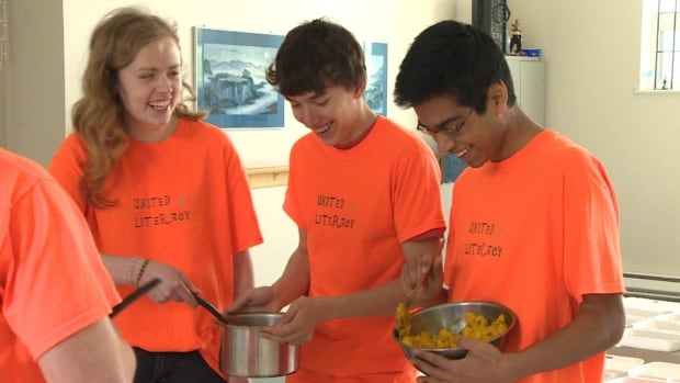Students at Gonzaga High School in St. John's were busy cooking Indian food on Friday. Funds raised from selling the boxed lunches is being put toward helping fund education for children in India.