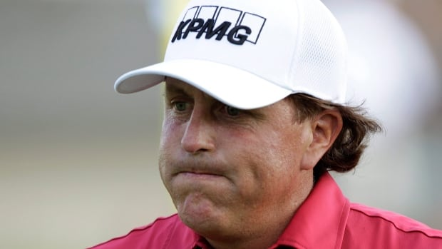 Phil Mickelson is seen Thursday at the Memorial golf tournament in Dublin, Ohio.