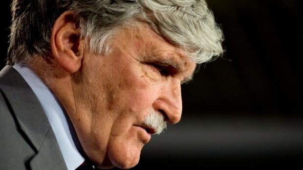 Senator Roméo Dallaire is stepping down to focus on humanitarian work. He says neither the audit nor the Senate expense scandal had anything to do with his decision.
